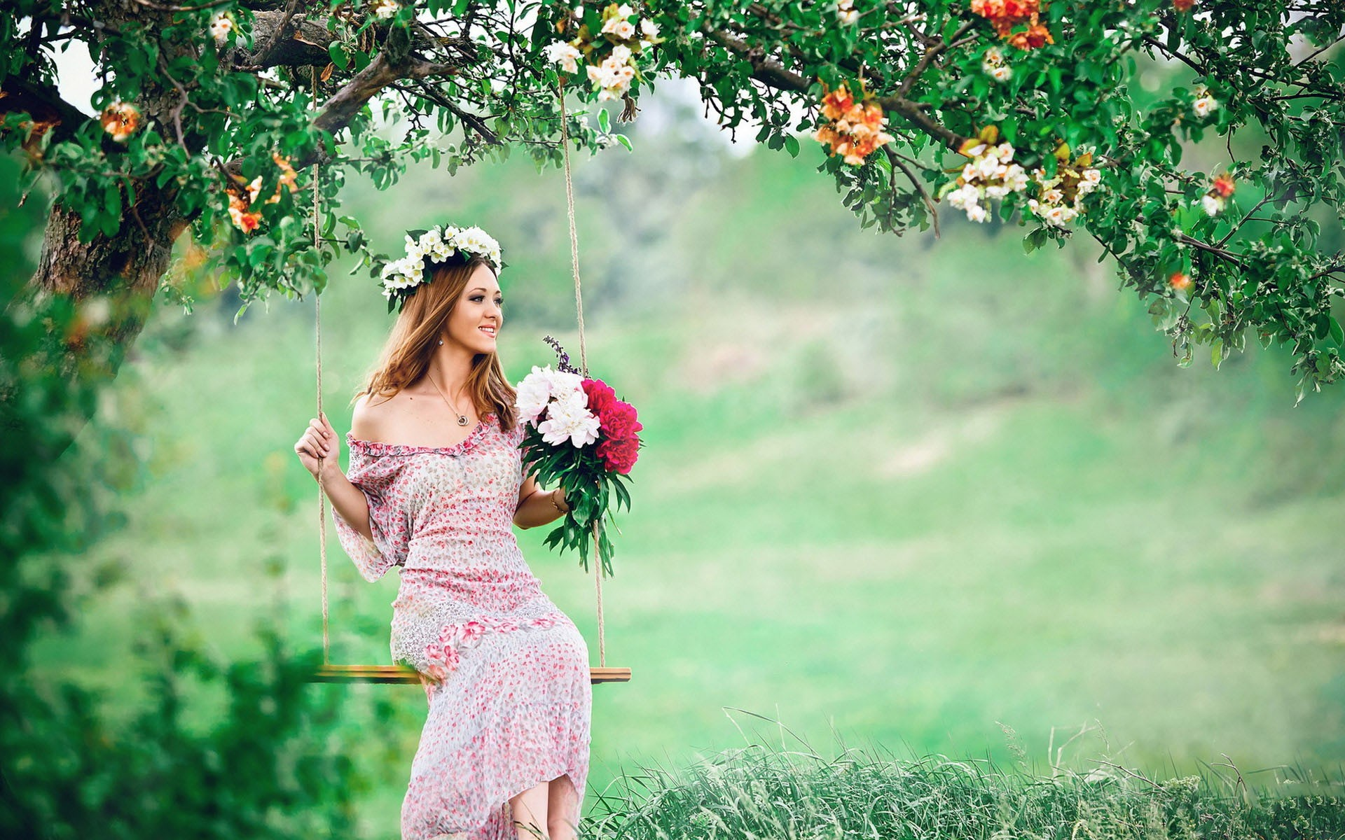 Download-Girl-With-Flower-Bucket-Wallpaper